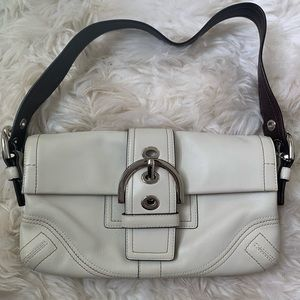 Coach, white small hand clutch